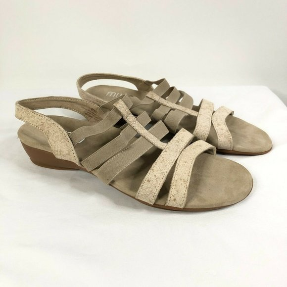 Munro Womens Sandals Strappy Leather Open Toe 6.5W